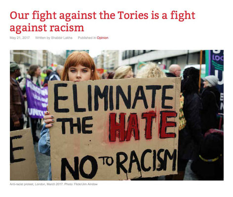 Counterfire: Our fight against the Tories is a fight against racism 21.5.17