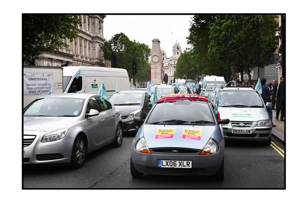 Convoy to Calais, Whitehall, London, 18.6.16