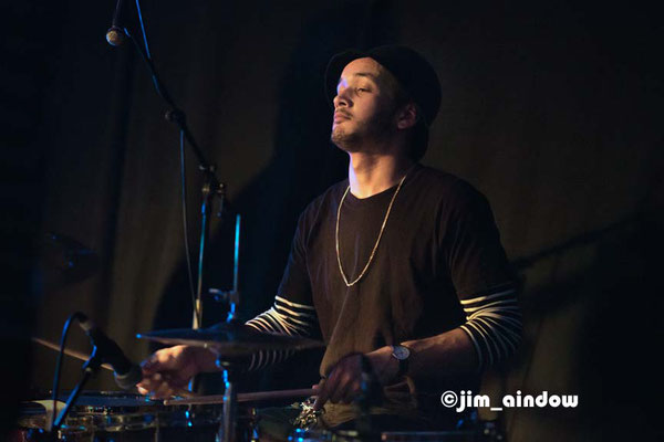Sam Jones on drums