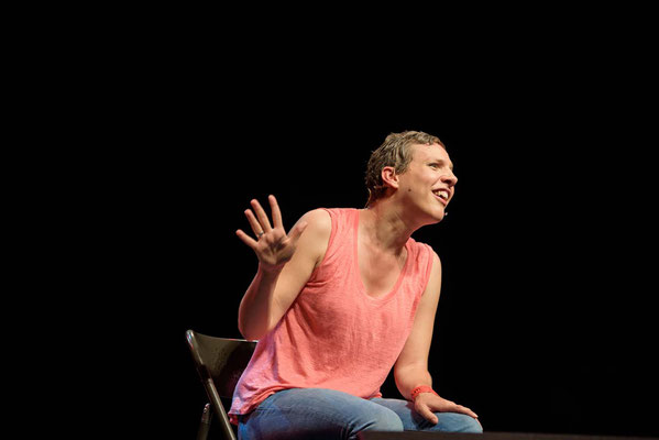 Francesca Martinez at  'For The Many'  Gig-a celebration of Jeremy Corbyn's campaign