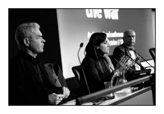 Palestinian campaigner Maha Younes 15 Years On: Time To Stop The War, London TUC Congress House, 8.10.16 Pic by Jim Aindow