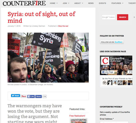 Counterfire: Syria out of sight out of mind January 2016