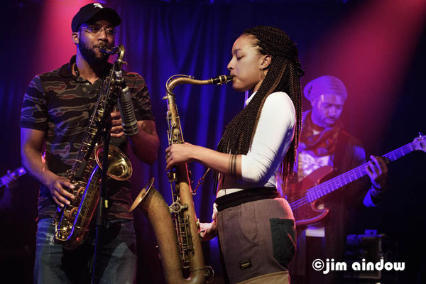 Irvin Pierce - sax,, Nubya Garcia - sax, Junius Paul on bass
