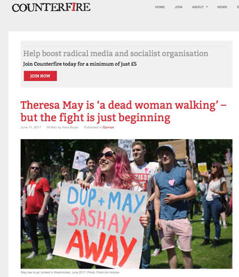 Counterfire: Theresa May Is A Dead Woman Walking: 11.7.17