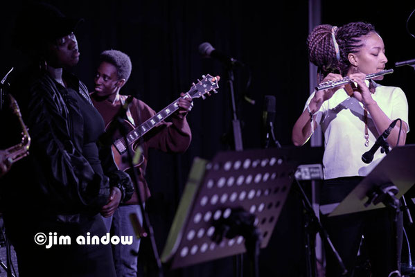 Sheila Maurice-Grey, Shirley Tetteh & Nubya Garcia on flute. Nerija at Poplar Union, London 18.1.18
