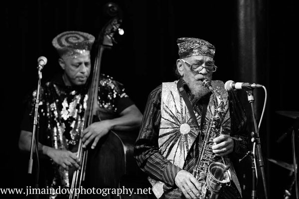 Marshall Allen on sax & Kash Killion on bass