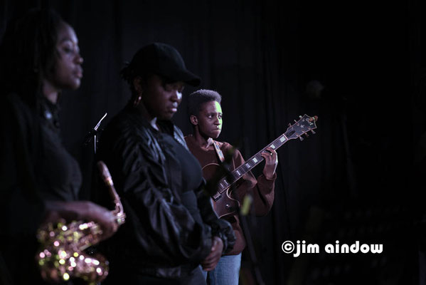 Cassie Kinoshi, Sheila Maurice-Grey & Shirley Tetteh on guitar. Nerija at Poplar Union, London 18.1.18
