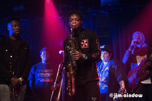 Ife Ogunjobi - trumpet, Nathaniel Cross - trombone, Deji Ijishakin - sax, Jaimie Branch, Junius Paul