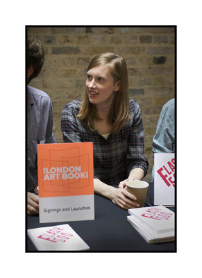 Charlotte Young at at the London Art Book Fair at the Whitechapel Gallery, 2015.