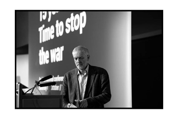 Jeremy Corbyn at at 15 Years On: Time To Stop The War, London TUC Congress House, 8.10.16 Pic by Jim Aindow