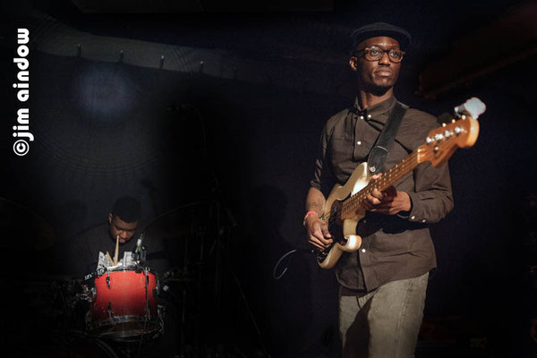 Benjamin Appiah on drums & Ricco Komolafe on bass with Triforce