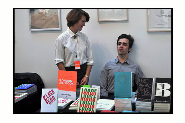 Akerman Daly book stall at The London Art Book Fair at The Whitechapel Gallery, 2015.