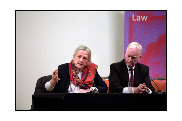 Professor Françoise Hampson speaking, on her right David Wardrop at CISD Annual Law Lecture at SOAS 7.3.17