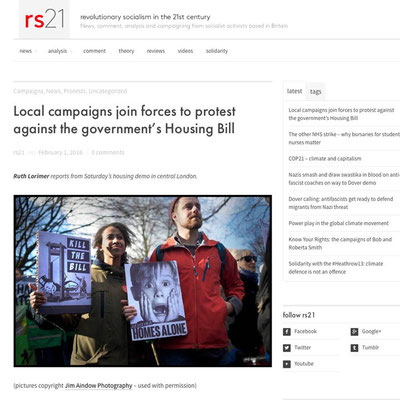 RS21 : March Against Housing Bill, London, 30.1.16