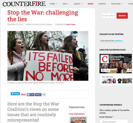 Counterfire : Stop the war challenging the lies. 10.12.2015