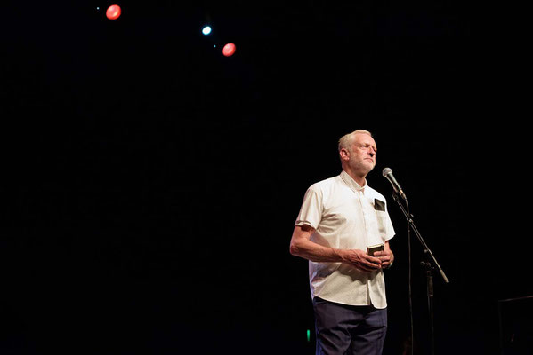 Jeremy Corbyn at  'For The Many' Gig -a celebration of Jeremy Corbyn's campaign