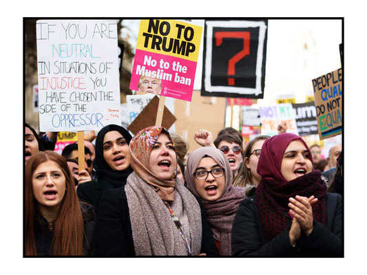 Stop Trump's Muslim Ban - Stop May Supporting It. London 4.2.17