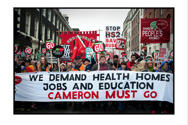 Cameron Must Go, Health, Homes, Jobs, Education, London, 16.4.16