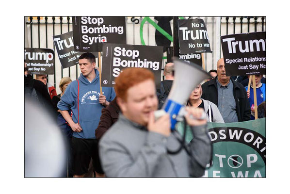 Stop Bombing Syria, emergency demo, Downing Street, 8.4.17