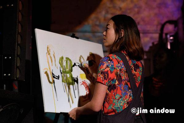 Dora Lam painting 'live'