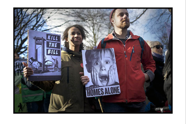 March Against Housing Bill, London, 30.1.16
