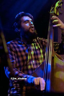 Twm Doyle on bass with Maisha.