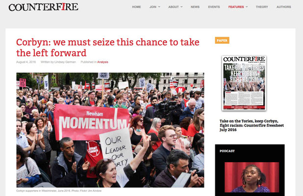 Counterfire: Corbyn: we must seize this chance to move the left forward 4.8.16