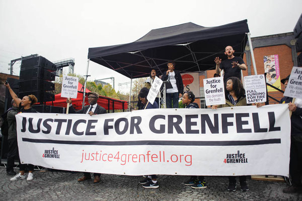 Justice For Grenfell, People's Assembly Demonstration Against Austerity, Take Back Manchester Festival, 1.10.17