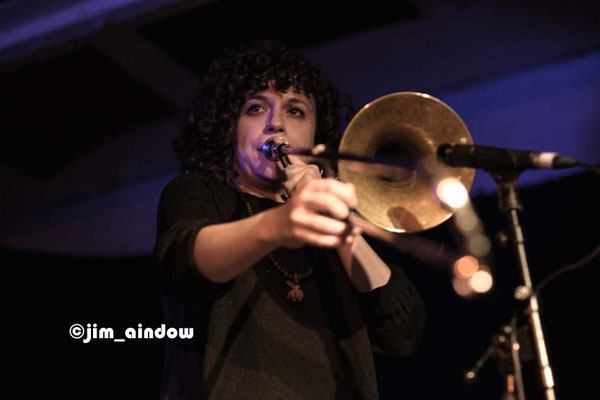 Rosie Turton on trombone