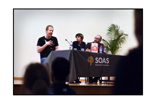 Andreas Malm speaking at Violent Past, Hot Present, Extreme Future: Episodes of Fossil Imperialism and Climate Change in Egypt, India and Nigeria. SOAS 31.1.17