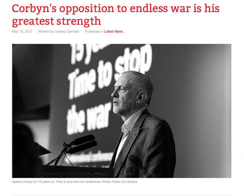 Counterfire: 'Corbyn's opposition to endless war is his greatest strength 12.5.17