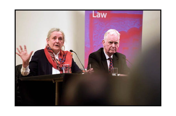 Professor Françoise Hampson speaking, on her right David Wardrop at the CISD Annual Law Lecture at SOAS 7.3.17