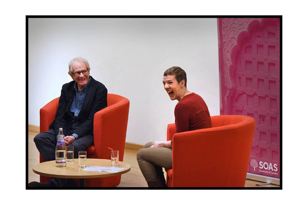 Francesca Martinez in conversation with Ken Loach at SOAS. 9.2.17