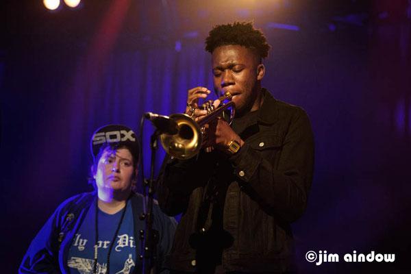 Jaimie Branch, Ife Ogunjobi - trumpet.