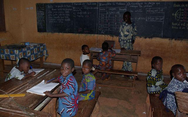 Salle de classe, école du village