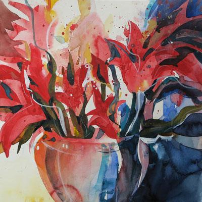 2017 / Rote Tulpen / 30 x 30 cm