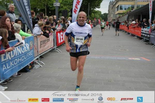 Markus Beim Firmenlauf In Koblenz Der Verein Für Läufer