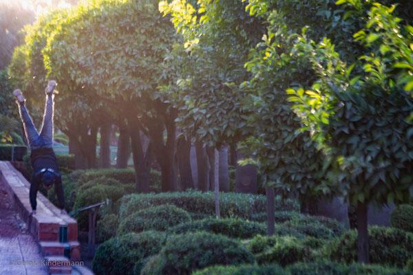 Gartenträume - mit Handstand!