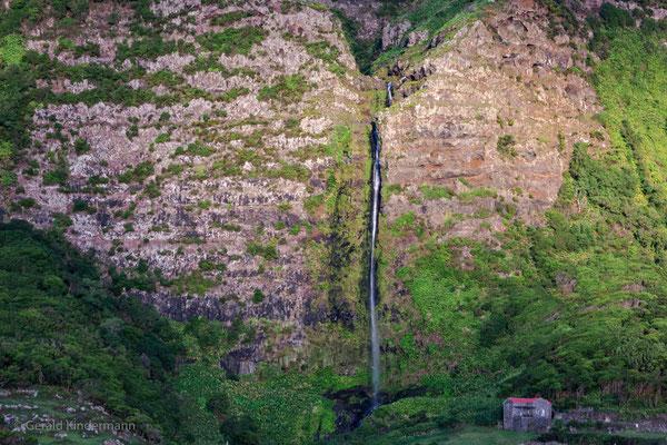 Wasserfall bei Faja Grande