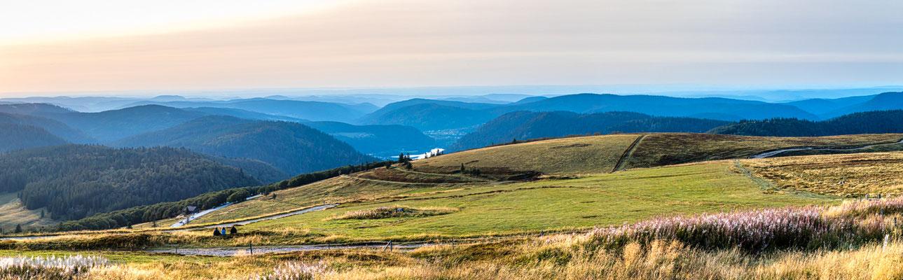 Panorama vom Gipfel zum Sonnenuntergang