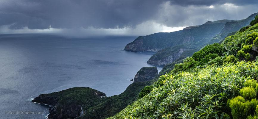 Westküste Insel Flores bei Faja Grande