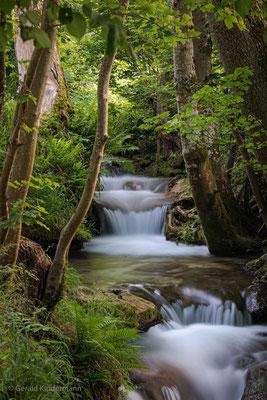 Abfluss des Uracher Wasserfalls