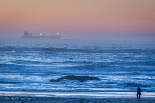 Leça da Palmeira - Schiff vor Anker