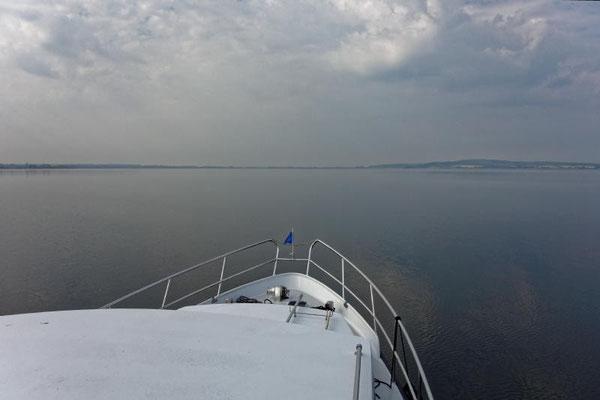 Der See ist recht groß, aber unkritisch bei der Navigation