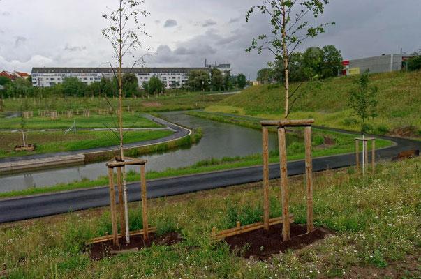 Die Verbindung des neuen Stadthafen Lindenau zum Karl-Heine Kanal