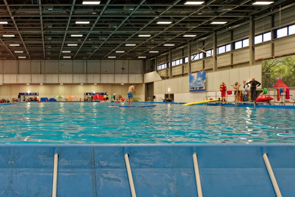 Die Aktivitäten auf dem großen Event-Pool hielten sich in Grenzen