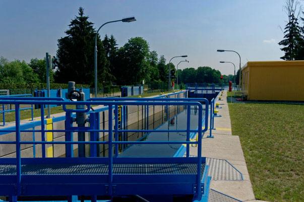 Die neue Schleuse am anderen Ende des Kanals.