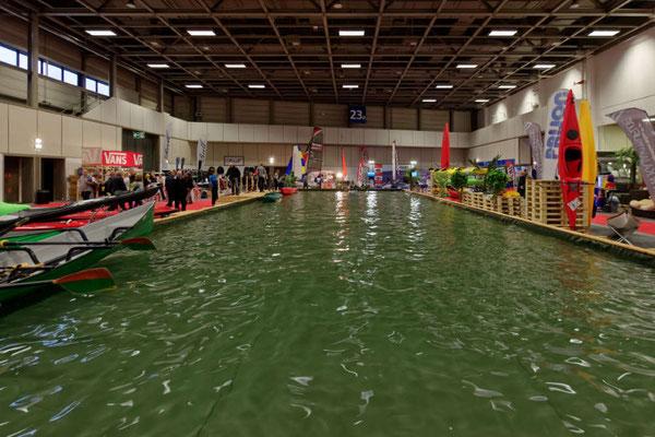 Der Pool für Ruderer und Paddler war kaum kleiner