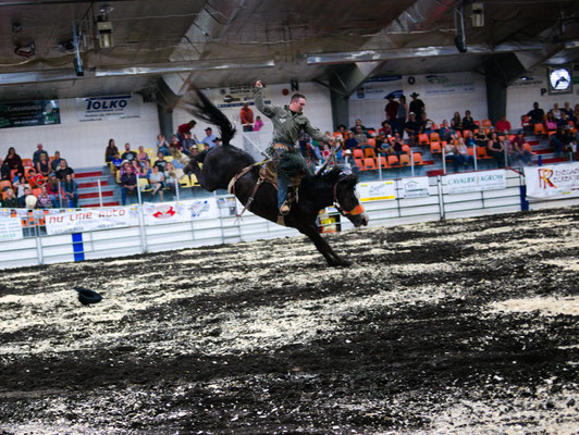 Although he made a great ride, the judges ruled a DQ