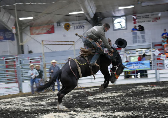 Local cowboy making a ride, note right hand ......